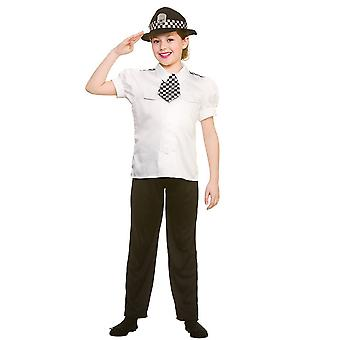 Police Women Childrens Fancy Dress Costume Shirt, Tie, Trousers & Hat