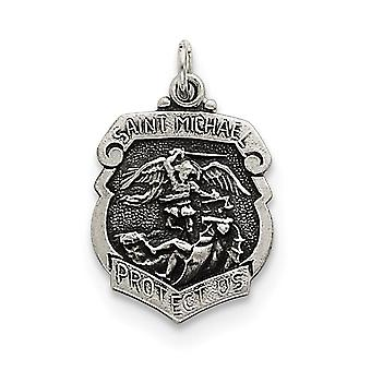 Sterling Silver St. Michael Badge Medal