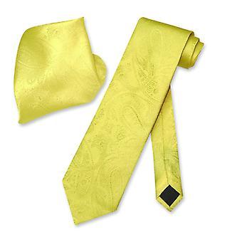 Cravate PAISLEY Vesuvio Napoli & mouchoir correspondance cou cravate ensemble masculine