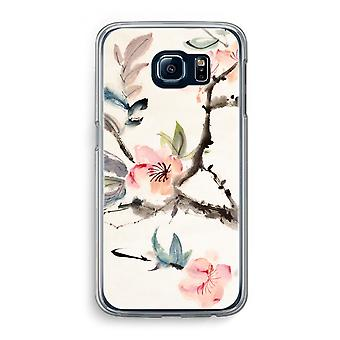 Samsung Galaxy S6 Transparent Case (Soft) - Japenese flowers