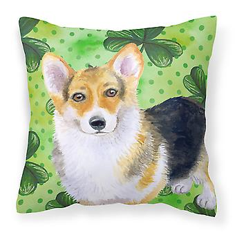 Pembroke Corgi St Patrick's Fabric Decorative Pillow