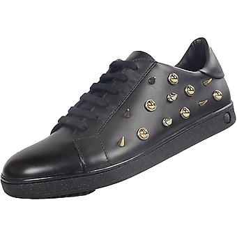 Versace Versus Fsx024c Low Top Leather Black Trainer