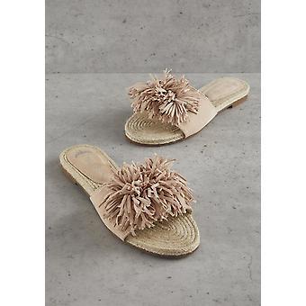 Nude Tassel Sandal