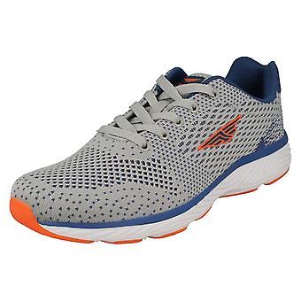 Mens Redtape Casual Sports Trainer RSC0038 - Grey Textile - UK Size 10 - EU Size 44 - US Size 11