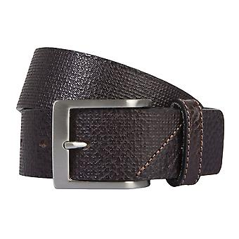 OTTO KERN belts men's belts leather belt dark brown 2188