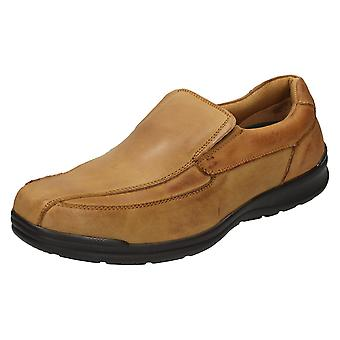 Mens Free Step Casual Leather Slip On Shoes William
