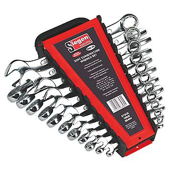 Sealey S0404 Combination Spanner Set 22Pc Metric/Imperial