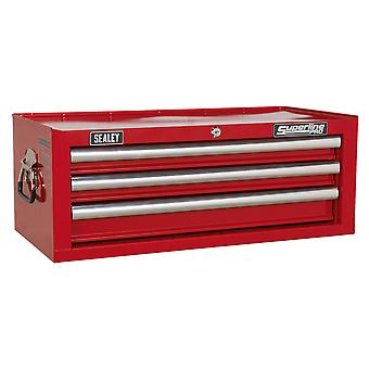 Sealey Ap33339 Add-On Chest 3 Drawer With Ball Bearing Runners - Red