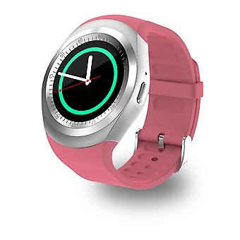 Smartwatch Y1-Android & iOS-Pink