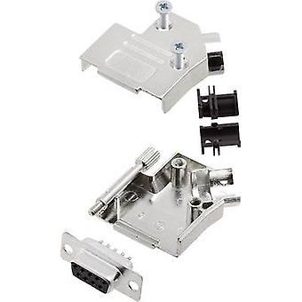 encitech D45ZK09-DBS-K D-SUB receptacle set 45 ° Number of pins: 9 Solder bucket 1 Set