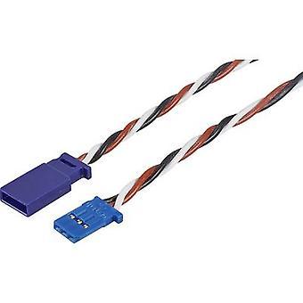 Servo Cable extension [1 x Futaba plug - 1 x Futaba socket] 1000 mm 0,35 mm² silicium, torsadée Modelcraft