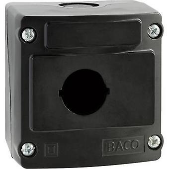 Ranuras de instalación del recinto 1 (L x W x H) 74 x 74 x 47,9 mm negro BACO LBX0100NR 1 PC