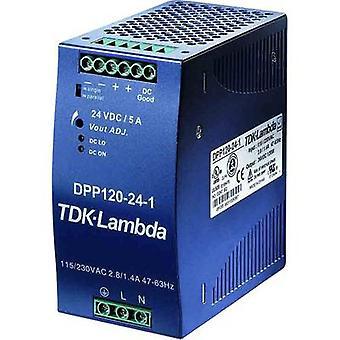 TDK-Lambda DPP-120-24-1 Rail mounted PSU (DIN) 24 VCC 5 A 120 W 1 x