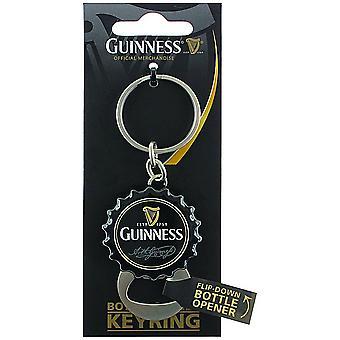 Guinness Bottle Cap sleutelhanger met Flip Down flesopener