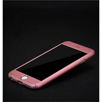 Samsung Galaxy J5 2017 nos versión de cristal de protección de depósito caso cáscara móvil rosa