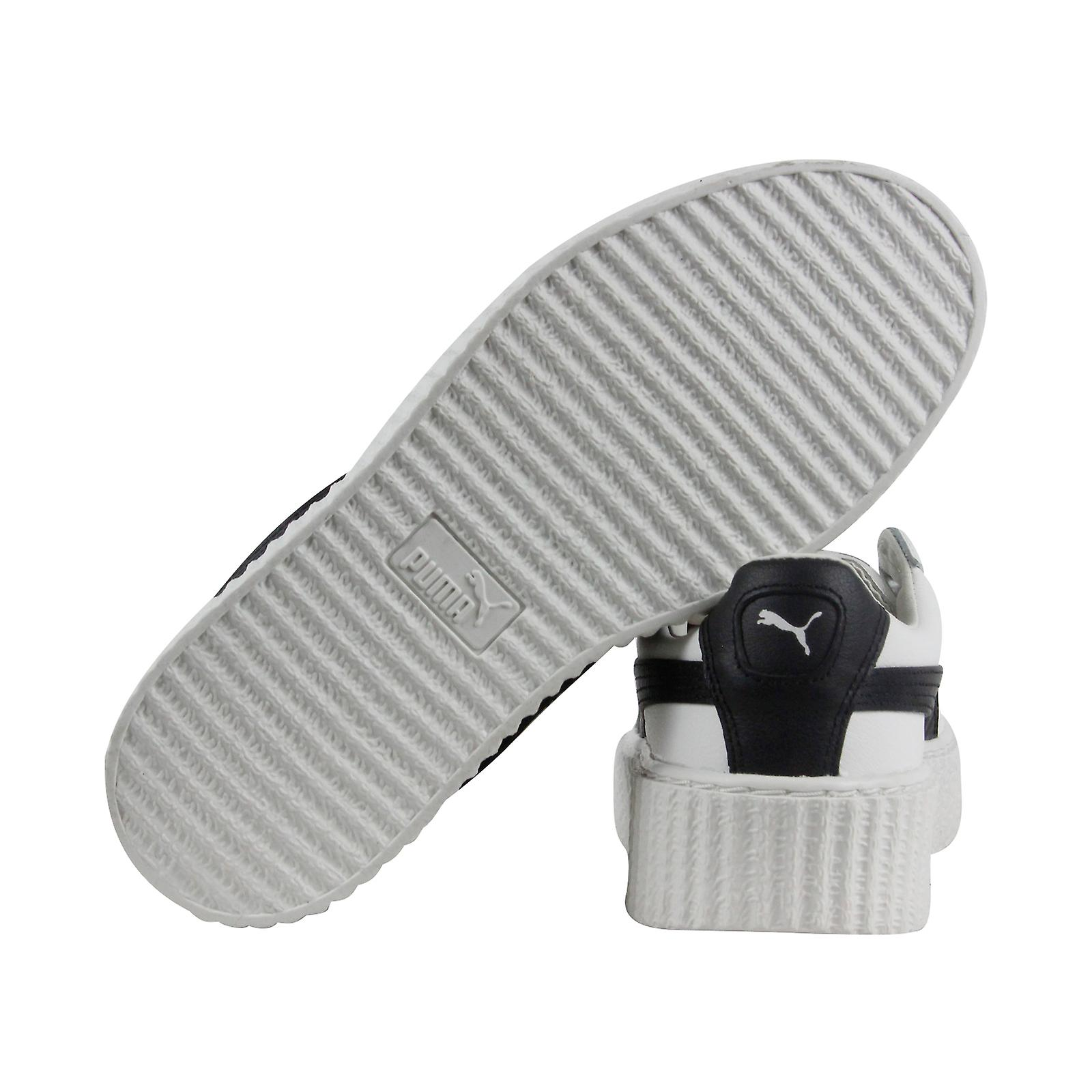 big sale f672a 7951f Puma Fenty By Rihanna Creeper Womens White Leather Casual Lace Up Sneakers  Shoes