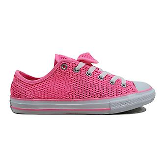 Converse Chuck Taylor All Star Double Tongue OX Pink Glow/Pink Glow-White 656058F Grade-School