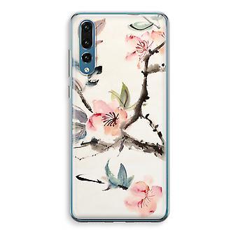 Huawei P20 Pro caja transparente (suave) - flores de Japenese