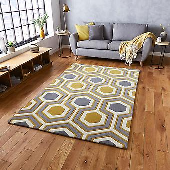 Hong Kong Rugs Hk3661 In Grey Yellow