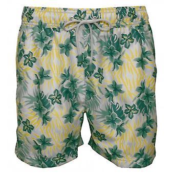 Oiler & Boiler Tuckernuck Classic Hawaiian Floral Swim Shorts, Leafy Greens