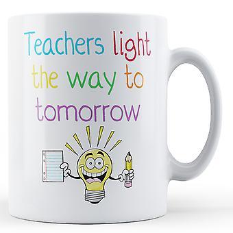 Декоративные письменной форме учителей света путь к завтра - печатные кружки