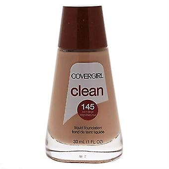 Covergirl Clean Liquid Foundation 145 Warm Beige 1oz / 30ml