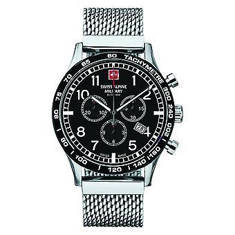 Swiss Alpine military men's watch Chrono 1746.9137SAM stainless steel