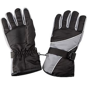 TRIXES Warm buiten koud weer wintersport sneeuw handschoenen zwart & grijs