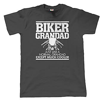 Biker Grandad Mens Funny Motorcycle T Shirt, Gift for Grandad