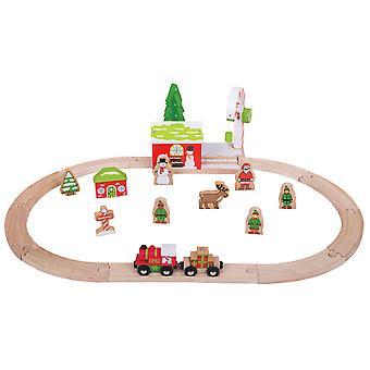 Bigjigs Rail Holz Winterlandschaft Weihnachtszug setzen saisonale Xmas