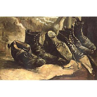 Three Pairs of Shoes, Vincent Van Gogh, 49x72cm