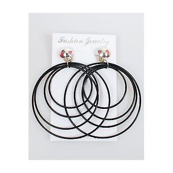 Juwelen en kronen Disco oorbellen zwart