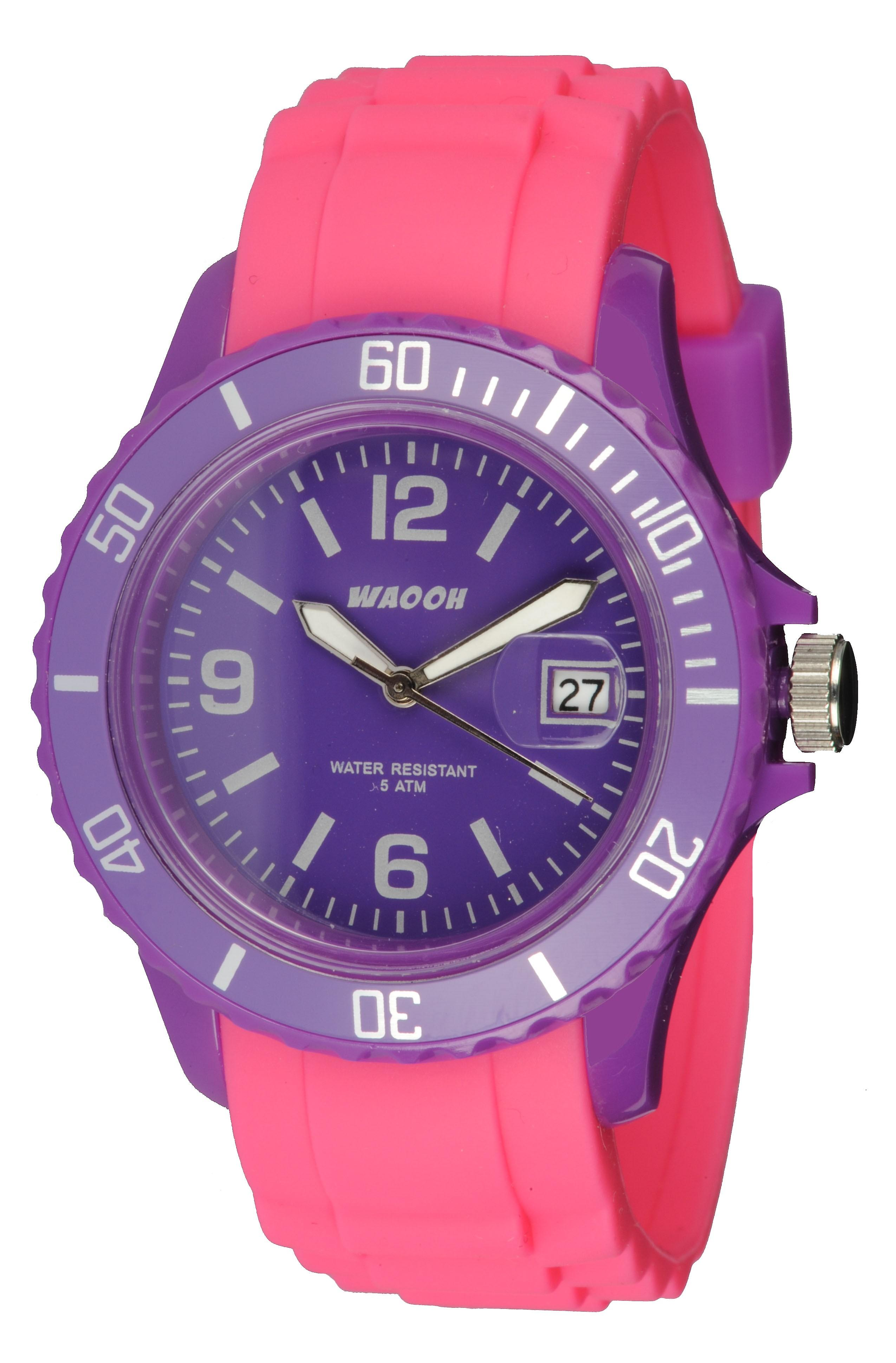 Waooh - Watch Monaco34 - bicolor & violet
