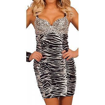Waooh - zebra dress with sparkly strapless Eko