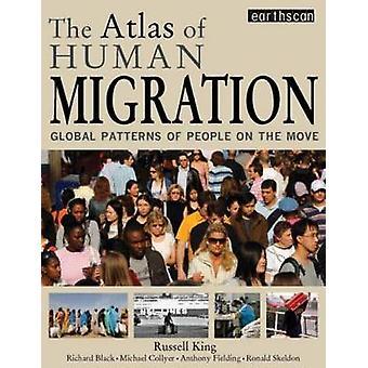 Atlas der menschlichen Migration - globale Muster des Menschen auf die Move-b