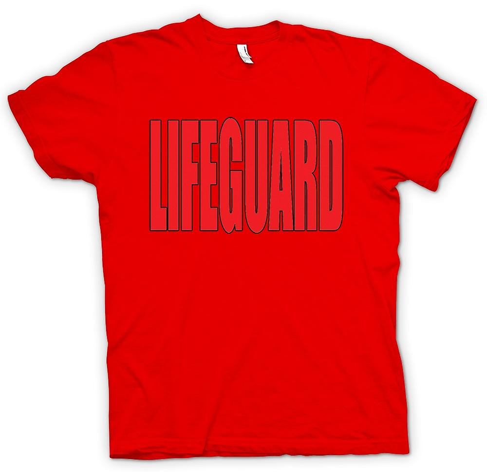 Mens T-shirt - Lifeguard - grappig humor