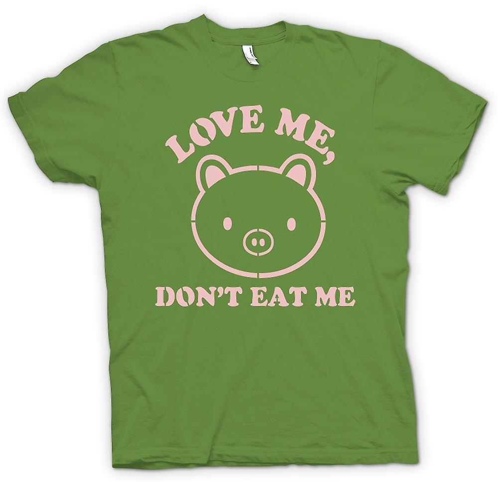 Mens T-shirt - Love Me, Don t Eat Me - lustig