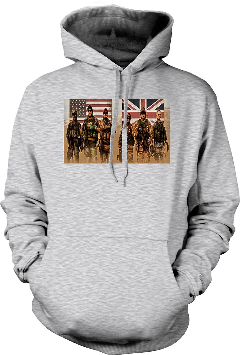 Mens Hoodie - USA och UK Special Forces. SAS och Delta