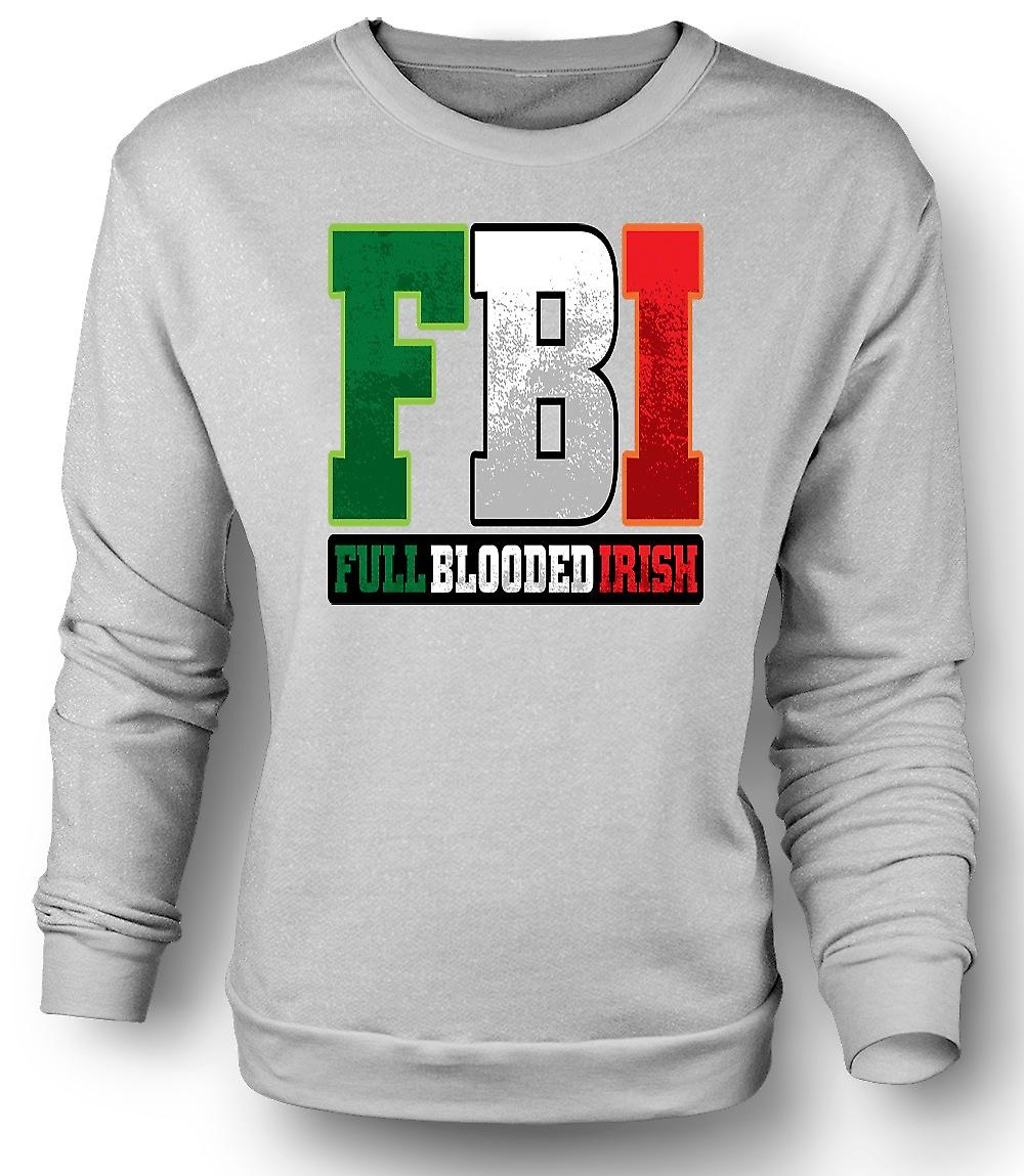 Mens felpa St Patricks Day - FBI - anima completa irlandese