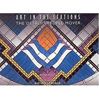 Art dans les Stations: le Detroit People Mover