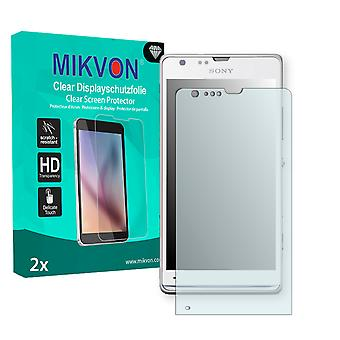 Sony Xperia C5303 Screen Protector - Mikvon Clear (Retail Package with accessories)