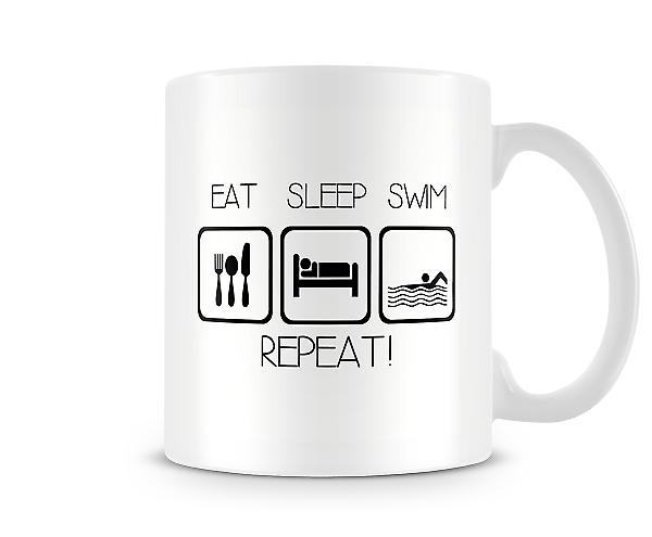 Eat Sleep Swim Repeat Mug