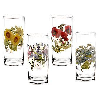 Portmeirion Set of 4 Botanic Garden Hi-Ball Glasses