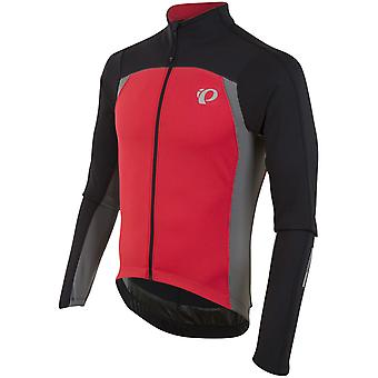 Pearl Izumi Black-True Red Pro Pursuit Thermal Long Sleeved Cycling Jersey