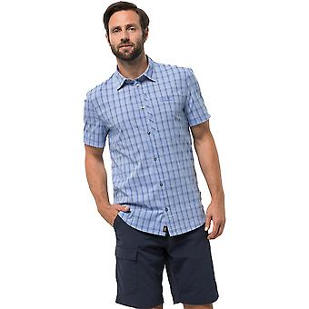 Jack Wolfskin Mens Rays Short Sleeve Stretch Vent Button Travel Shirt