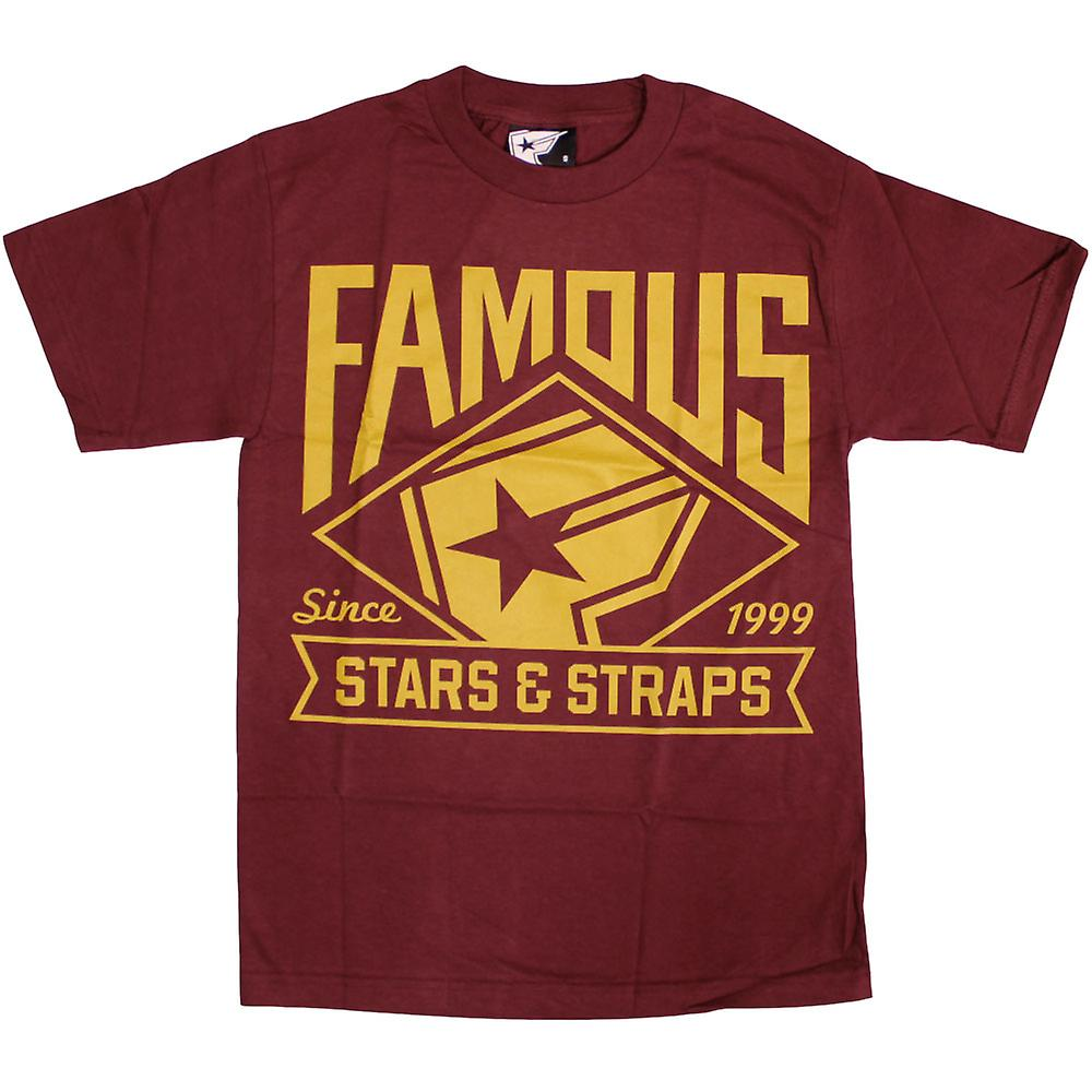 Beroemde sterren en riemen Boh Mlb T-shirt Bordeaux goud