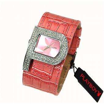 Playboy Pink Strap Ladies Designer Fashion Cuff Watch PB0189PK