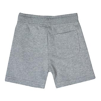 Infant Boys Franklin And Marshall Fleece Logo Jog Shorts In Grey Heather- Ribbed