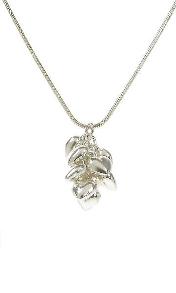 Cavendish French Sterling Silver Heaps of Hearts Pendant without Chain
