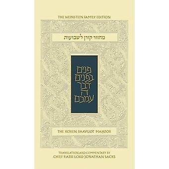 The Koren Sacks Shavuot Mahzo (The Weinstein Family ed) - 97896530182